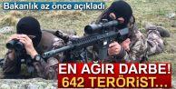 Bakanlık Açıkladı: Tam 642 Terörist !