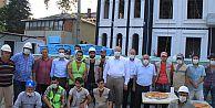 Başkan Çebi Türkiye'nin Gündemine Oturan İnşaat İşçileriyle Bir Araya Geldi.