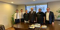 Başkan Recep Çebi, Ali Fuat Gümüştaş'ı ziyaret etti…