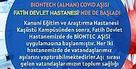 BIONTECH AŞISI FATİH DEVLET HASTANESİ'NDE DE BAŞLADI.