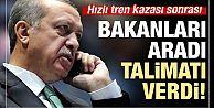 Erdoğan'dan YHT kazası sonrası talimat!