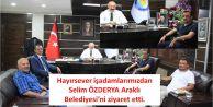 Hayırsever işadamlarımızdan Selim Özderya Araklı Belediyesi'ni ziyaret etti.