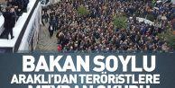 İçişleri Bakanı Süleyman Soylu, Araklı'dan terör örgütlerine meydan okudu.