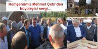 Mehmet Çebi'nin sergisini Bakan Ağbal ziyaret etti...