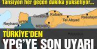 """Mevlüt Çavuşoğlu: """"YPG'nin Fırat'ın doğusuna geçmesi gerekiyor aksi taktirde hedef olacaktır"""" dedi."""