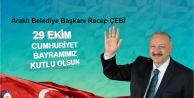 Recep ÇEBİ'den 29 Ekim Cumhuriyet Bayramı mesajı...