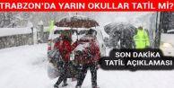 Trabzon'da etkili olan kar dolayısıyla, eğitime ara verildi...