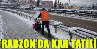 Trabzon'da Kar Tatili!