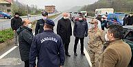Trabzon'da kontrol noktalarını Vali denetledi.