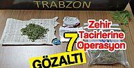 Trabzon'da uyuşturucu satıcılarına yönelik operasyon