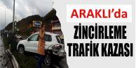 Trabzon'un Araklı ilçesinde zincirleme trafik kazası meydana geldi!