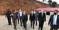 Trabzon Valisi Ustaoğlu, Şehit Meriç Alemdar atış alanında incelemelerde bulundu.
