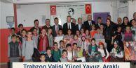 Trabzon Valisi Yücel Yavuz Araklı Yeşilyurt İlköğretim Okulunu ziyaret etti.