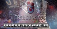 TRABZONSPOR UEFA'YI GARANTİLEDİ