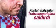 Trabzonsporlu taraftar yaralandı
