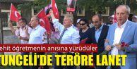 """Tunceli'de """"Teröre Lanet Yürüyüşü"""""""