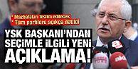 YSK Başkanı Güven'den flaş açıklama!
