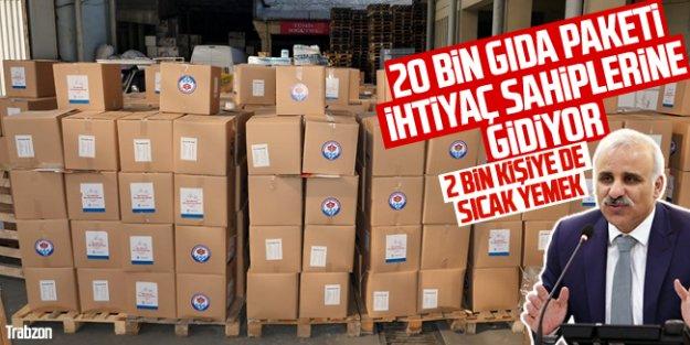 Trabzon Büyükşehir Belediyesi'nden sosyal yardım atağı...