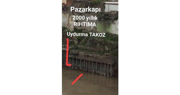 TRABZON'DA 2000 YILLIK LİMANA TAKOZ VURULDU.
