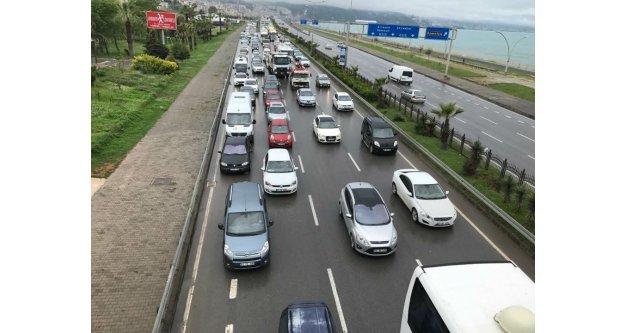Trabzon'da drone çekimli trafik uygulaması başladı.