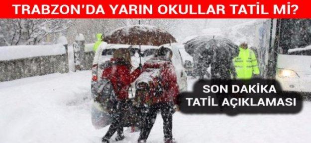Trabzon#039;da etkili olan kar dolayısıyla, eğitime ara verildi...