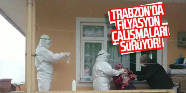 Trabzon'da filyasyon çalışmaları sürüyor!