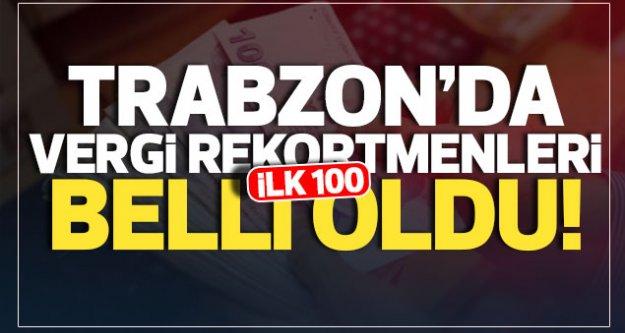 Trabzon'da ilk 100 sırayı alan vergi rekortmenlerinde Araklı'dan tanıdık isimler...