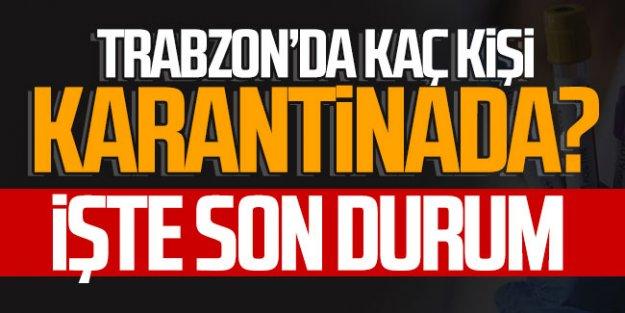 Trabzon'da kaç kişi karantinada? İşte son durum