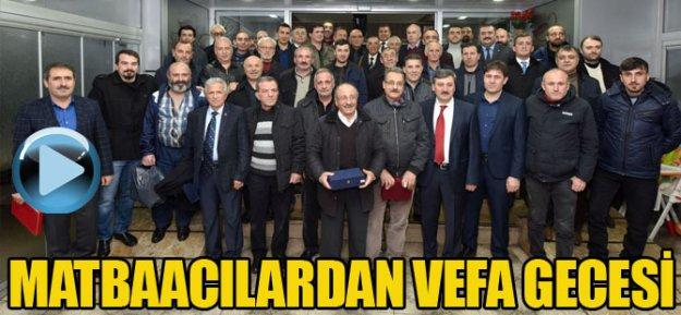 Trabzon'da Matbaacılardan Vefa Gecesi
