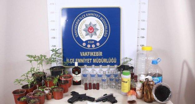 Trabzon'da sahte alkol operasyonu...