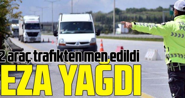 Trabzon'da sürücülere ceza yağdı! 252 araç men edildi.