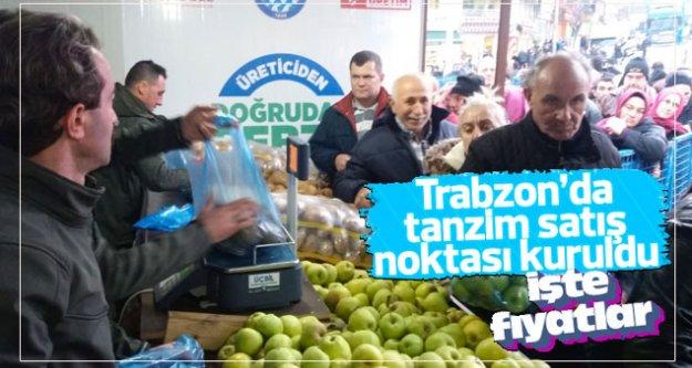 Trabzon'da tanzim satışı başladı...