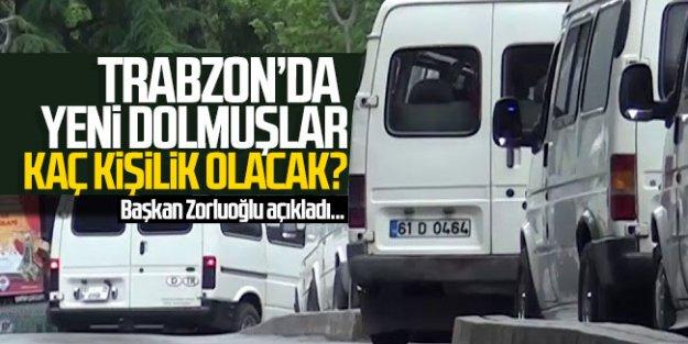 Trabzon#039;da yeni dolmuşlar kaç kişilik olacak?