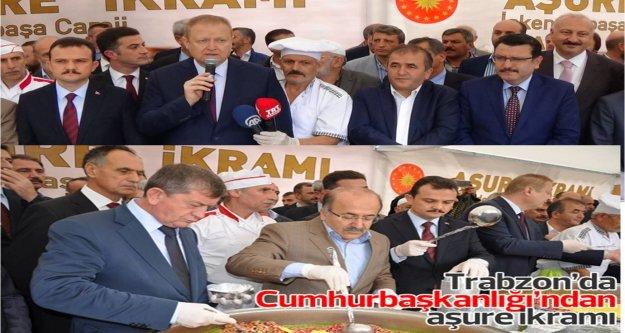 Trabzon'da Cumhurbaşkanlığı'ndan aşure ikramı...
