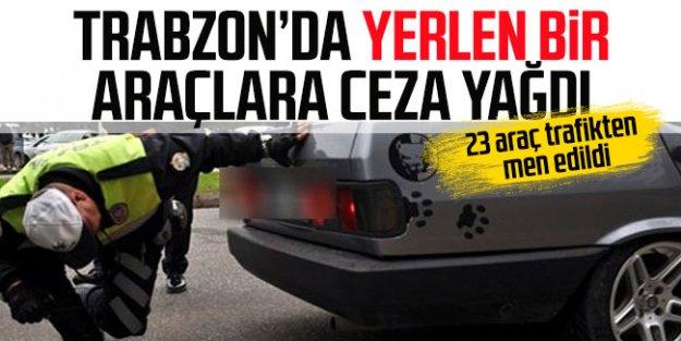 Trabzon'da kesik yay ve egzozlu araçlara ceza yağdı!