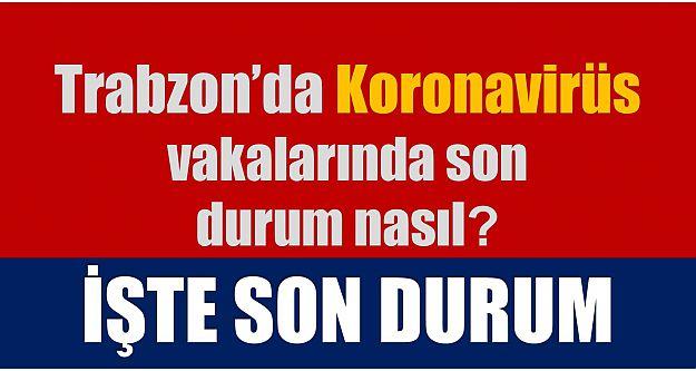 Trabzon'da Koronavirüs vakalarında son durum...