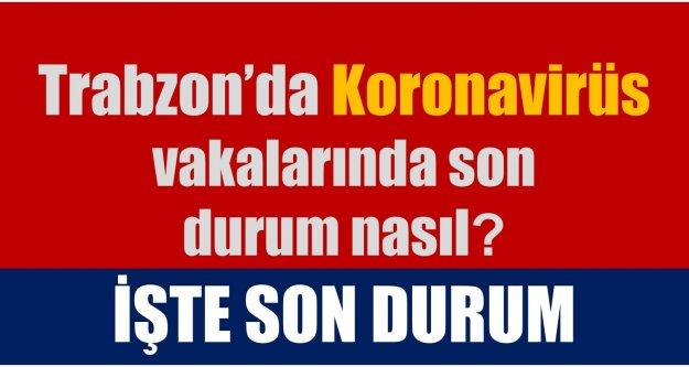 Trabzon'da koronavirüs vakalarında son durum nasıl?