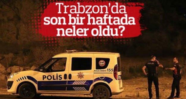 Trabzon'da son 1 haftada neler oldu?
