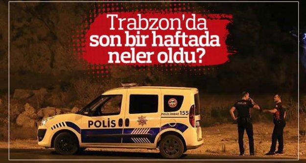 Trabzon'da son 1 haftada neler oldu