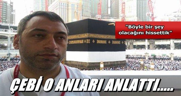 Trabzonlu hacılar faciadan yarım saatle kurtuldu!