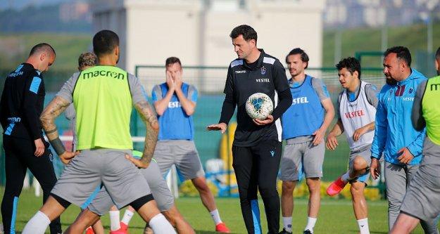 Trabzonspor antrenmanla çalışmalarına devam etti.