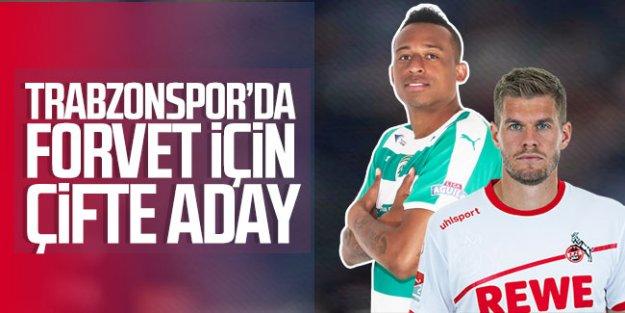 Trabzonspor'da forvet transferi için çifte aday!