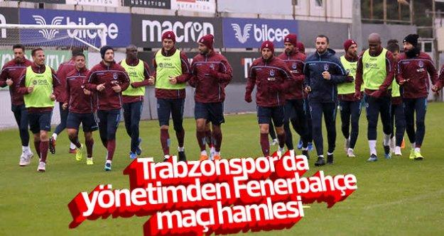Trabzonspor'da yönetimden Fenerbahçe maçı hamlesi