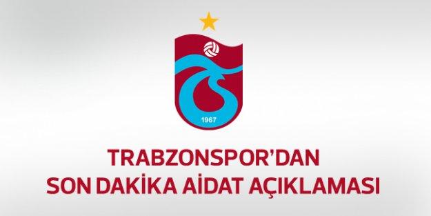 Trabzonspor'dan aidat açıklaması