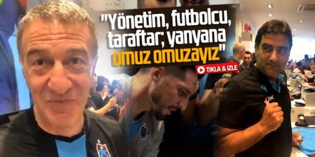 Trabzonspor Kulübü Başkanı Ahmet Ağaoğlu Akyazı TS Club'da açıklamalarda bulundu.