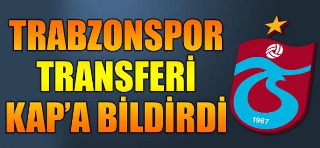Trabzonspor Transferi KAP'a Bildirdi...