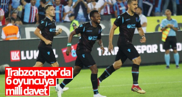 Trabzonspor'un 6 yabancı oyuncusuna milli davet geldi.