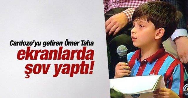 Trabzonsporlu Ömer Taha 3 Adam'a konuk oldu