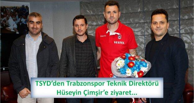 TSYD'den Trabzonspor Teknik Direktörü Hüseyin Çimşir'e ziyaret...