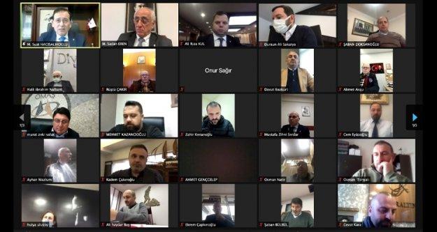 TTSO Mart ayı meclis toplantısı video konferansla yapıldı
